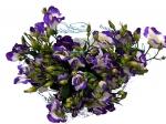 Эустома Белая, с фиолетовым кантиком